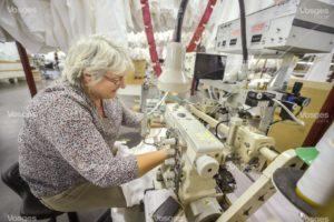couturière drap-housse usine textile vosges